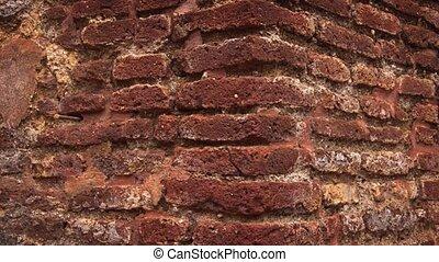 Ancient Brick Ruin in Polonnaruwa. Ultra HD 4k footage - Old...