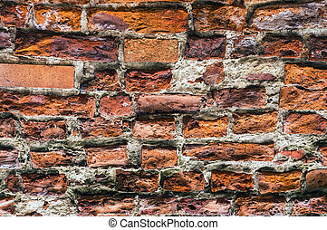 Ancient brick wall.