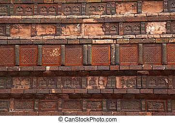 Ancient Bricks Details Iron Buddhist Pagoda Kaifeng China