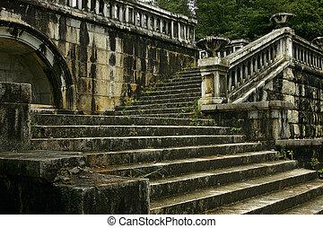 Ancient bridge in the center of Sukhum,  Abkhazia
