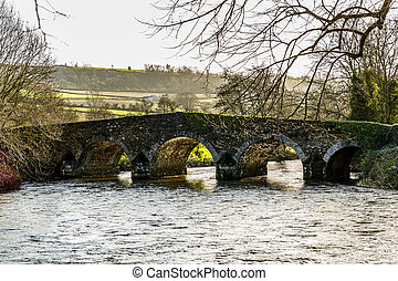 Ancient bridge over the Derry river in Ireland