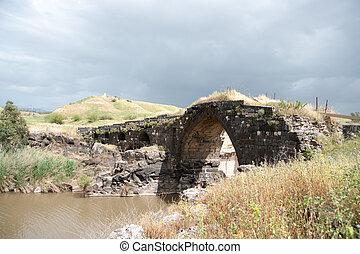 Ancient bridge ruins