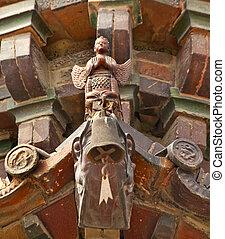 Ancient Buddhist Angel Iron Pagoda Buddhist Monument Kaifeng China Built in 1069 by the Kaibao Buddhist Monstary.  Best example of glazed brick pagoda in China