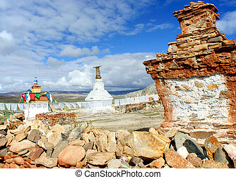 Ancient Buddhist stupa in Tibet