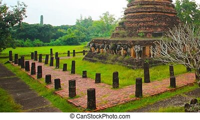 Ancient Buddhist Temple Ruin in Southeast Asia - Video...