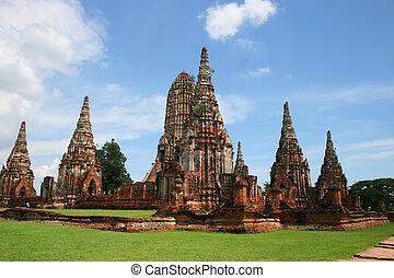Ancient Buddhist temple, Thailand.