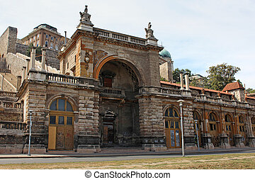 Ancient building in Budapest, Hungary