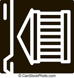 ancient building on web site icon Vector Glyph Illustration