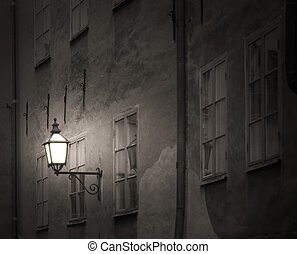 Ancient building with lantern