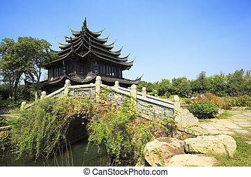 ancient buildings in the chinese garden - North China Garden