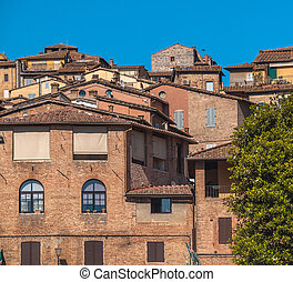 Ancient Buildings in the City of Sienna