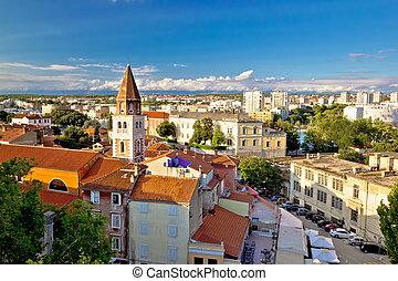 ancient, byen, i, zadar, aerial udsigt