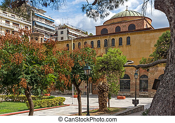 Ancient Byzantine Orthodox Hagia Sophia Cathedral in the...
