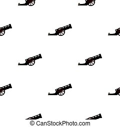 Ancient cannon pattern flat