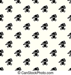 Ancient cannon pattern vector seamless
