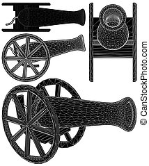 Ancient Cannon Vector 06.eps