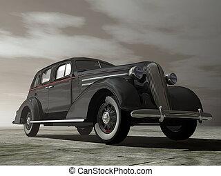Ancient car - 3D render