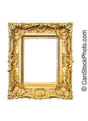 golden frame - ancient carved golden frame