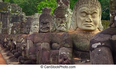 "Ancient, Carved Stone Sculptures - ""Ancient, stone..."