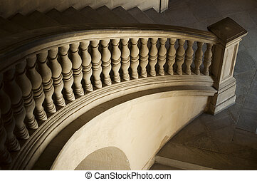 Ancient Castle curved stairs