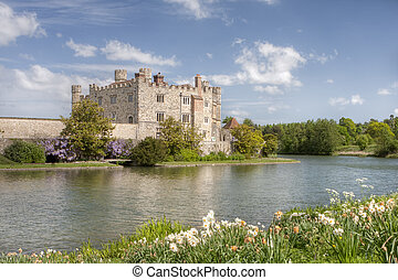 Ancient Castle in Leeds Kent with Large Lake Acting as Moat...
