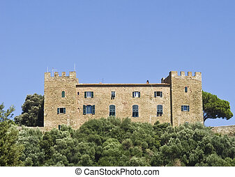 Ancient castle in Tuscany