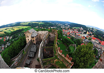 Ancient castle of Bolkow, Poland