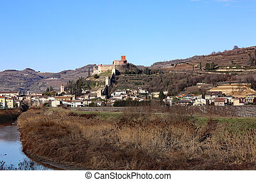 Castle Soave ancient medieval prison in the Province of Verona i