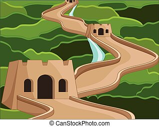 Ancient Castle Structure Vector
