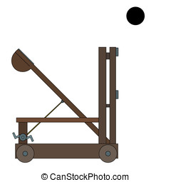 Ancient catapult cartoon - Illustration of an ancient Greek...