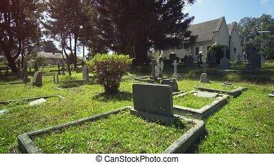 Ancient cemetery near Holy Trinity Church in Nuwara Eliya in...