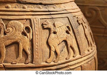 ancient ceramic vessel