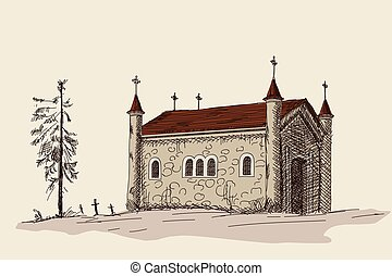 Ancient Christian temple. - Ancient stone Christian temple ...