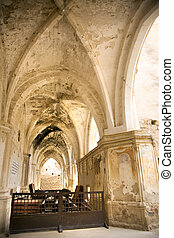 ancient church at monasterio de piedra saragossa spain