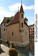 Ancient Church in Annecy Town in France