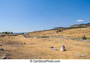 Ancient city Ancient city of Hierapolis near the town of...