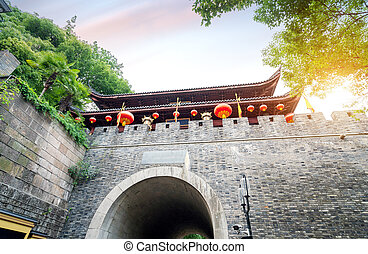 Ancient city gate in Suzhou, China