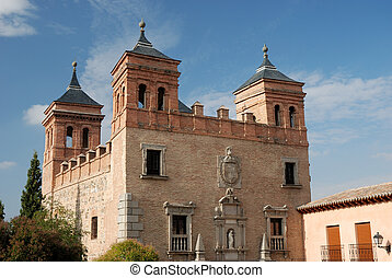 Ancient city gate in Toledo, Spain