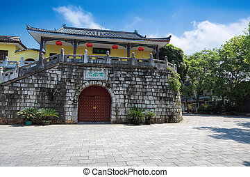 ancient city gate tower in guilin, China