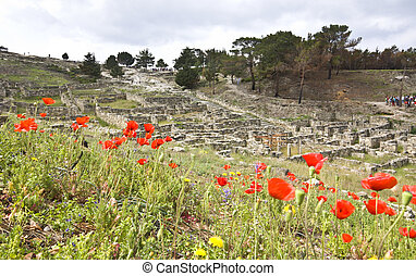 Ancient city of kamiros at Rhodes island in Greece