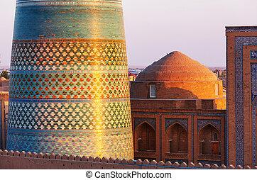 Khiva - Ancient city of Khiva, Uzbekistan. UNESCO World...