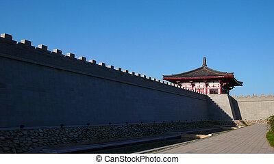 Ancient city wall of Xian China