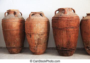 Ancient clay amphorae