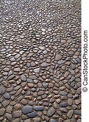 Time-worn stone surface of English street