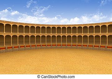 Ancient coliseum corrida arena empty 3d model