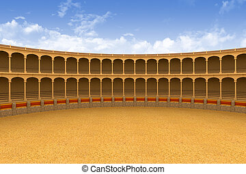 Ancient coliseum arena - Ancient coliseum corrida arena...