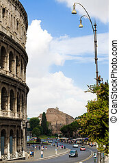 colosseo, rome,italy - ancient colosseo, rome,italy, view...
