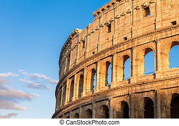 Colosseum at sunset in Rome