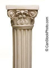 Ancient Column Pillar Replica on a White Gradation...