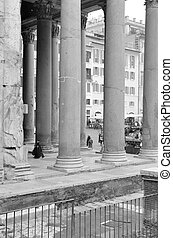 Ancient Columnade (Rome) - A beautiful ancient columnade in...